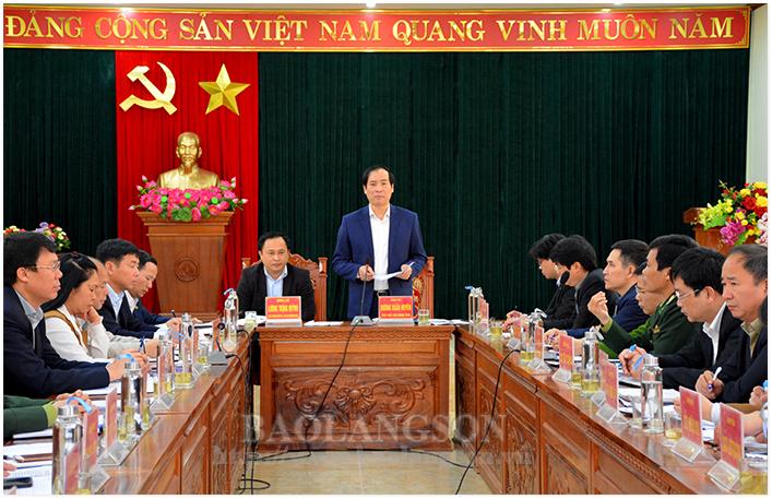 Lãnh đạo UBND tỉnh kiểm tra tình hình triển khai nhiệm vụ, kế hoạch năm 2020 tại Lộc Bình