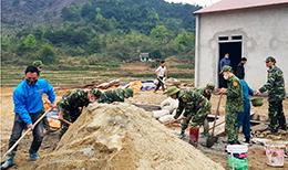 Đồn Biên phòng Thanh Lòa tham gia xây dựng nông thôn mới