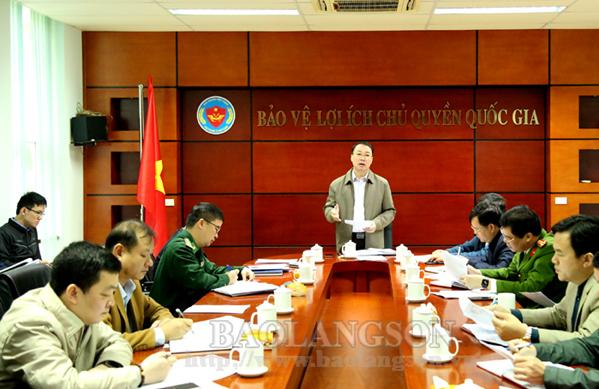 Lãnh đạo UBND tỉnh kiểm tra công tác thông quan hàng hóa tại cửa khẩu Tân Thanh
