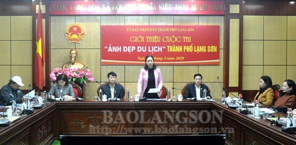 """Triển khai kế hoạch tổ chức cuộc thi """"Ảnh đẹp du lịch"""" thành phố Lạng Sơn"""