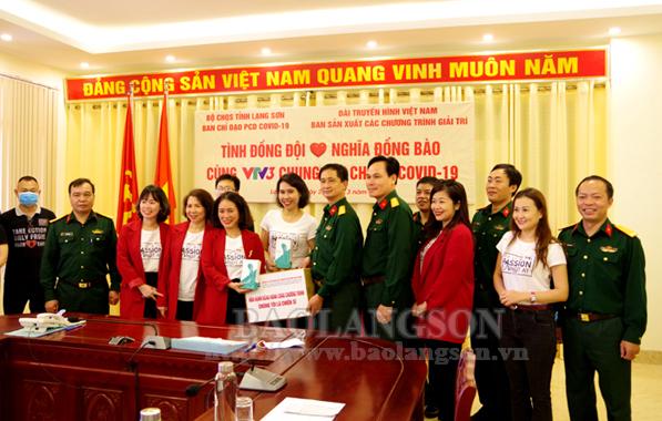 VTV3 tặng vật tư y tế phòng chống Covid – 19 cho Bộ CHQS tỉnh Lạng Sơn