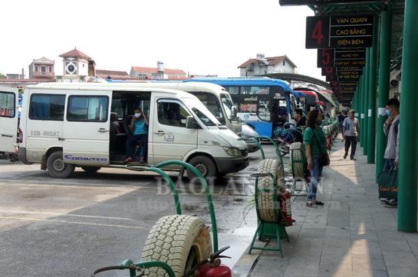 Lạng Sơn: Tạm ngừng khai thác vận tải khách đi Hà Nội, thành phố Hồ Chí Minh, Bắc Ninh và Thái Nguyên