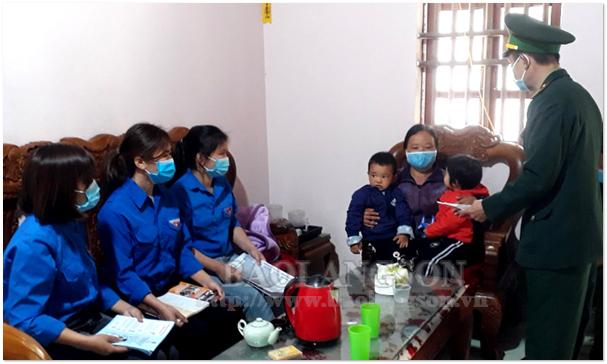 Tuổi trẻ Văn Lãng góp phần phòng, chống dịch Covid -19