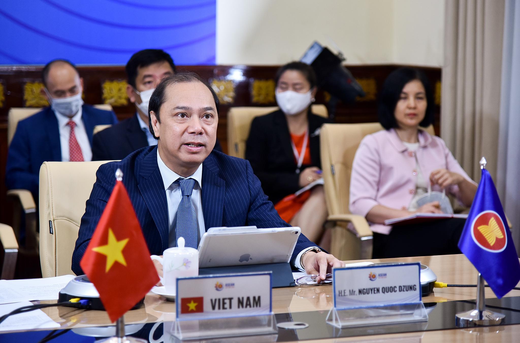 Việt Nam đồng chủ trì Hội nghị ASEAN-Mỹ hợp tác ứng phó dịch COVID-19