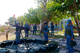 Bộ đội Trường Sa tăng cường huấn luyện trong mùa dịch bệnh