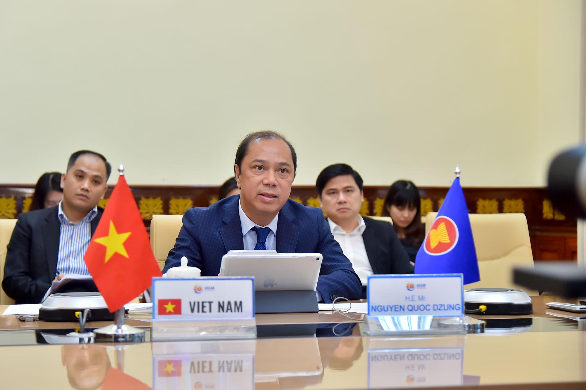 Các quan chức cao cấp ASEAN họp trực tuyến