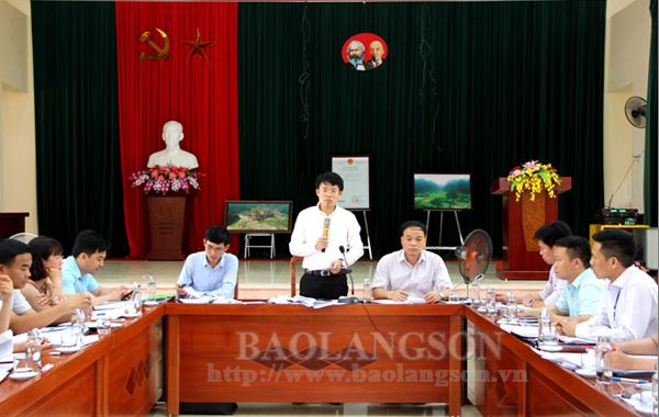 Ban Chỉ đạo xây dựng nông thôn mới tỉnh kiểm tra tại Văn Quan
