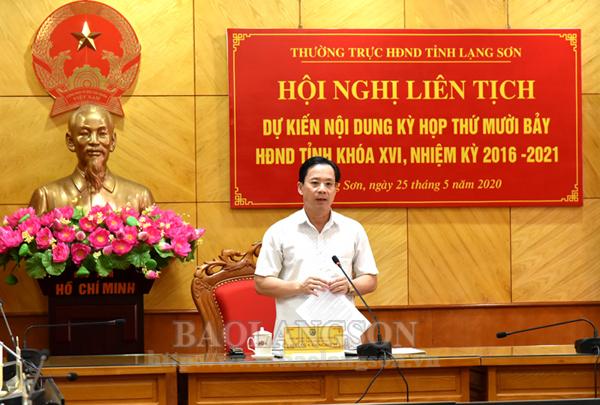 Thường trực HĐND tỉnh họp liên tịch dự kiến  nội dung kỳ họp thứ 17