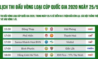 Lịch thi đấu vòng loại Cúp Quốc gia 2020: Những tấm vé cuối cùng