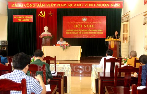 Nhiều ý kiến tâm huyết đóng góp vào dự thảo văn kiện trình Đại hội Đảng bộ tỉnh lần thứ XVII và Đại hội lần thứ XIII của Đảng