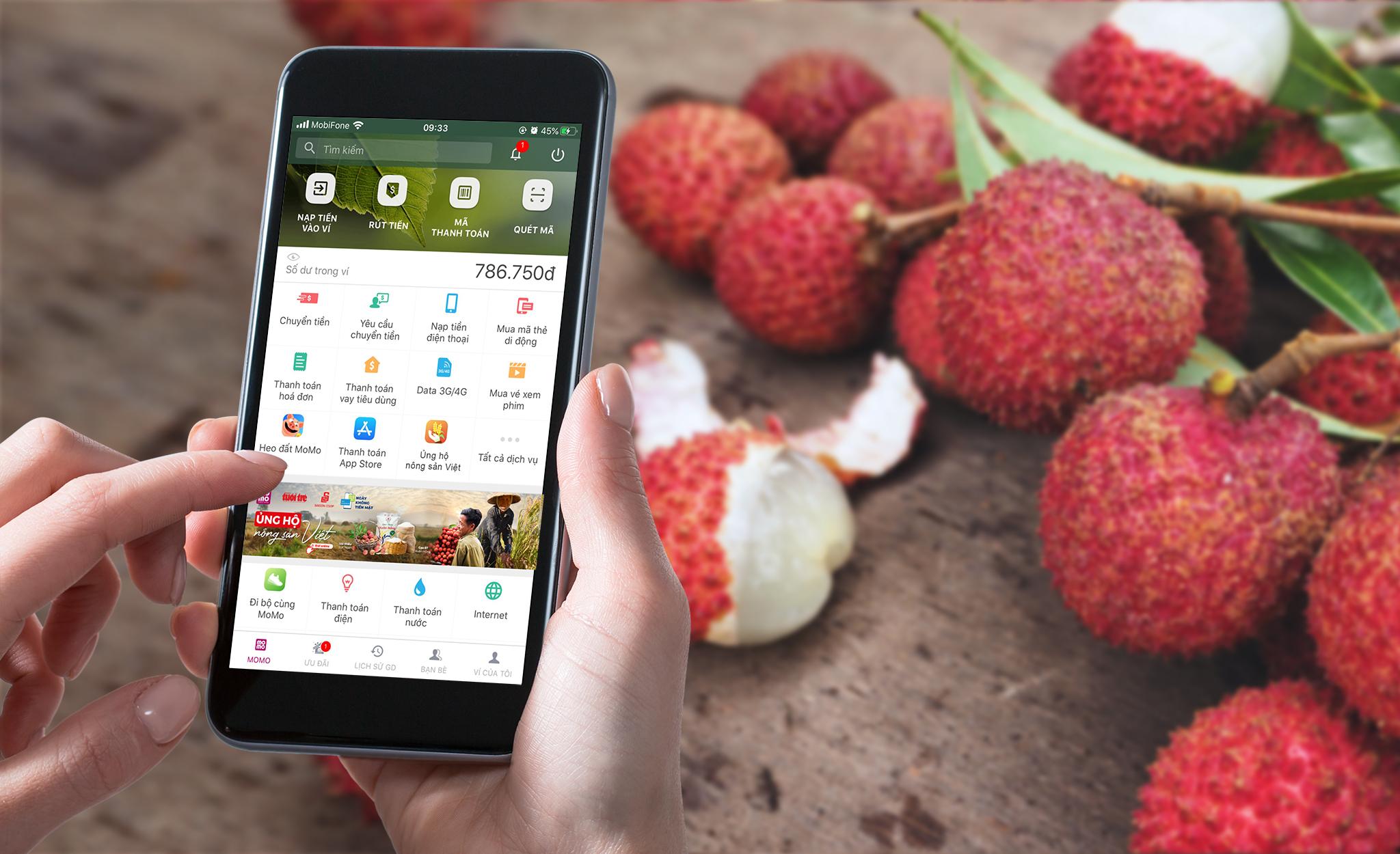 Ủng hộ nông sản Việt trên nền tảng công nghệ thanh toán tiện lợi