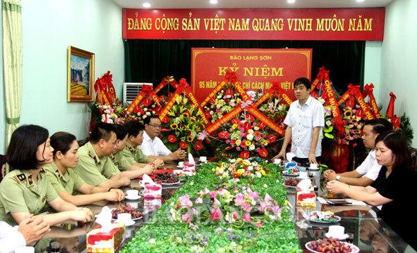 Các cơ quan, đơn vị chúc mừng Báo Lạng Sơn nhân ngày Báo chí cách mạng Việt Nam