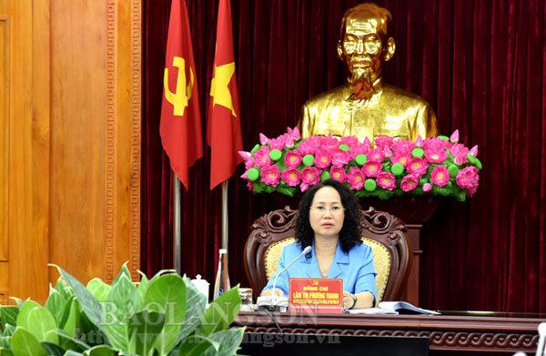 Duyệt văn kiện đại hội các đảng bộ: Quân sự tỉnh, Bộ đội biên phòng tỉnh, Tràng Định
