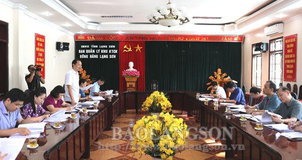 Kiểm tra việc thực hiện nhiệm vụ tại Ban Quản lý Khu kinh tế cửa khẩu Đồng Đăng - Lạng Sơn