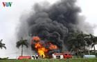 Toàn cảnh vụ cháy lớn tại xưởng hóa chất ở quận Long Biên, Hà Nội