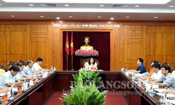 Ban Thường vụ Tỉnh ủy duyệt nội dung Đại hội Đại biểu Đảng bộ huyện Đình Lập