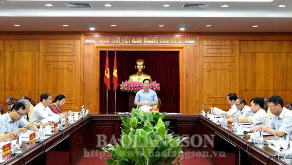 Ban Thường vụ Tỉnh ủy duyệt nội dung Đại hội Đảng bộ huyện Lộc Bình
