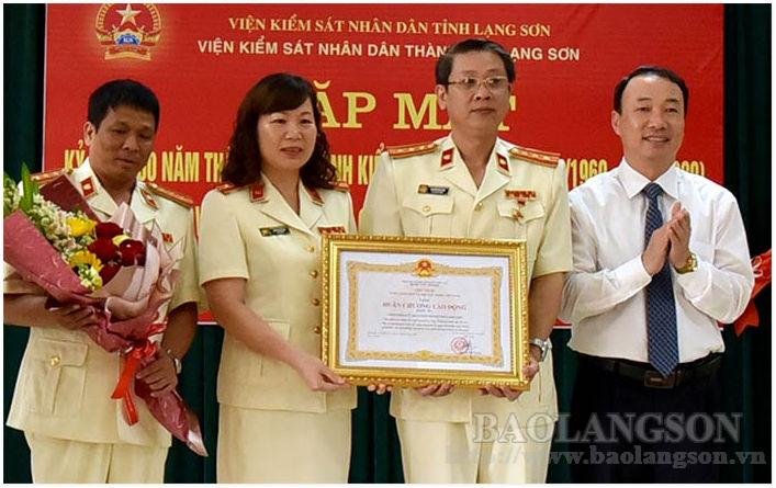 Viện Kiểm sát Nhân dân thành phố Lạng Sơn gặp mặt kỷ niệm 60 năm ngày thành lập ngành