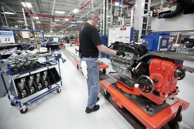 Hoạt động chế tạo của Mỹ tăng lên mức cao nhất trong gần một năm rưỡi
