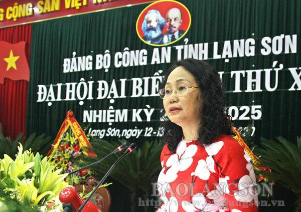 Tiếp tục tập trung xây dựng Đảng bộ Công an tỉnh trong sạch, vững mạnh