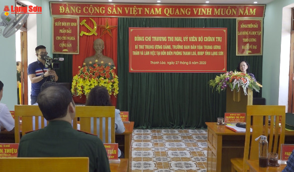 Trưởng Ban Dân vận Trung ương thăm và làm việc tại Lạng Sơn