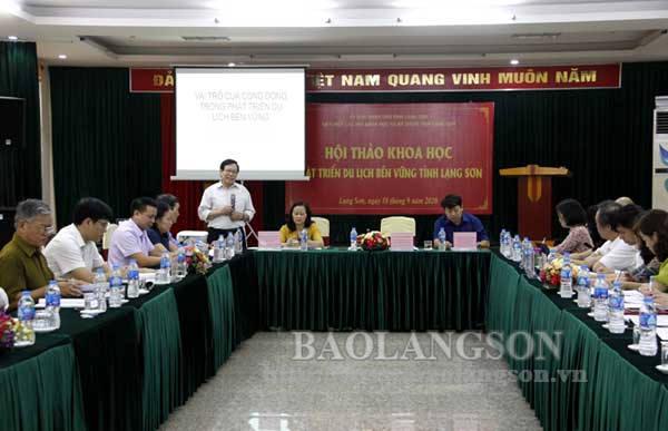 Hội thảo khoa học phát triển du lịch bền vững tỉnh Lạng Sơn