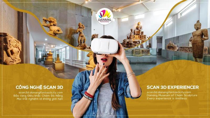 Trải nghiệm scan 3D tại Bảo tàng Điêu khắc Chăm Đà Nẵng