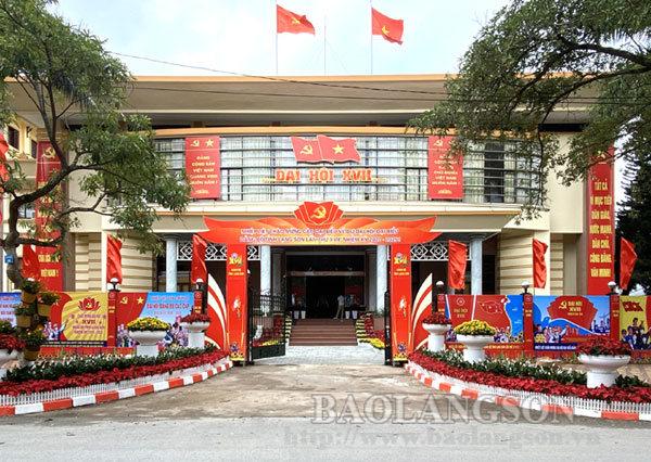 Từ ngày 25-27/9, Đảng bộ tỉnh Lạng Sơn tổ chức Đại hội đại biểu lần thứ XVII