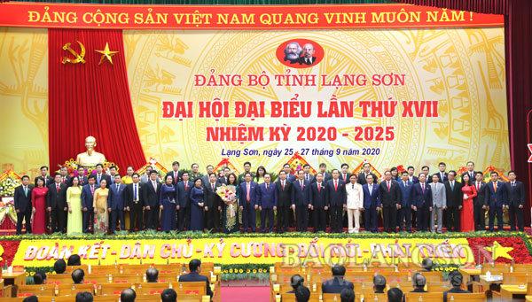 Danh sách Ban Thường vụ Tỉnh ủy Lạng Sơn khóa XVII