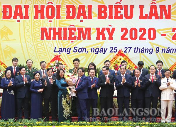 Đồng chí Lâm Thị Phương Thanh tái đắc cử Bí thư Tỉnh ủy Lạng Sơn khóa XVII