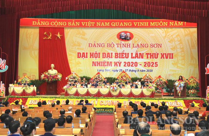 Đảng bộ tỉnh Lạng Sơn khai mạc Đại hội đại biểu lần thứ XVII
