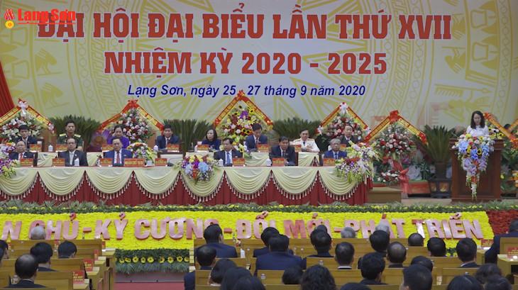 Đại hội đại biểu Đảng bộ tỉnh Lạng Sơn lần thứ XVII thành công tốt đẹp