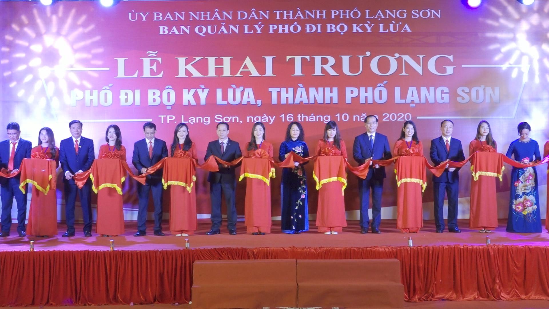 Phố đi bộ Kỳ Lừa, thành phố Lạng Sơn chính thức đi vào hoạt động