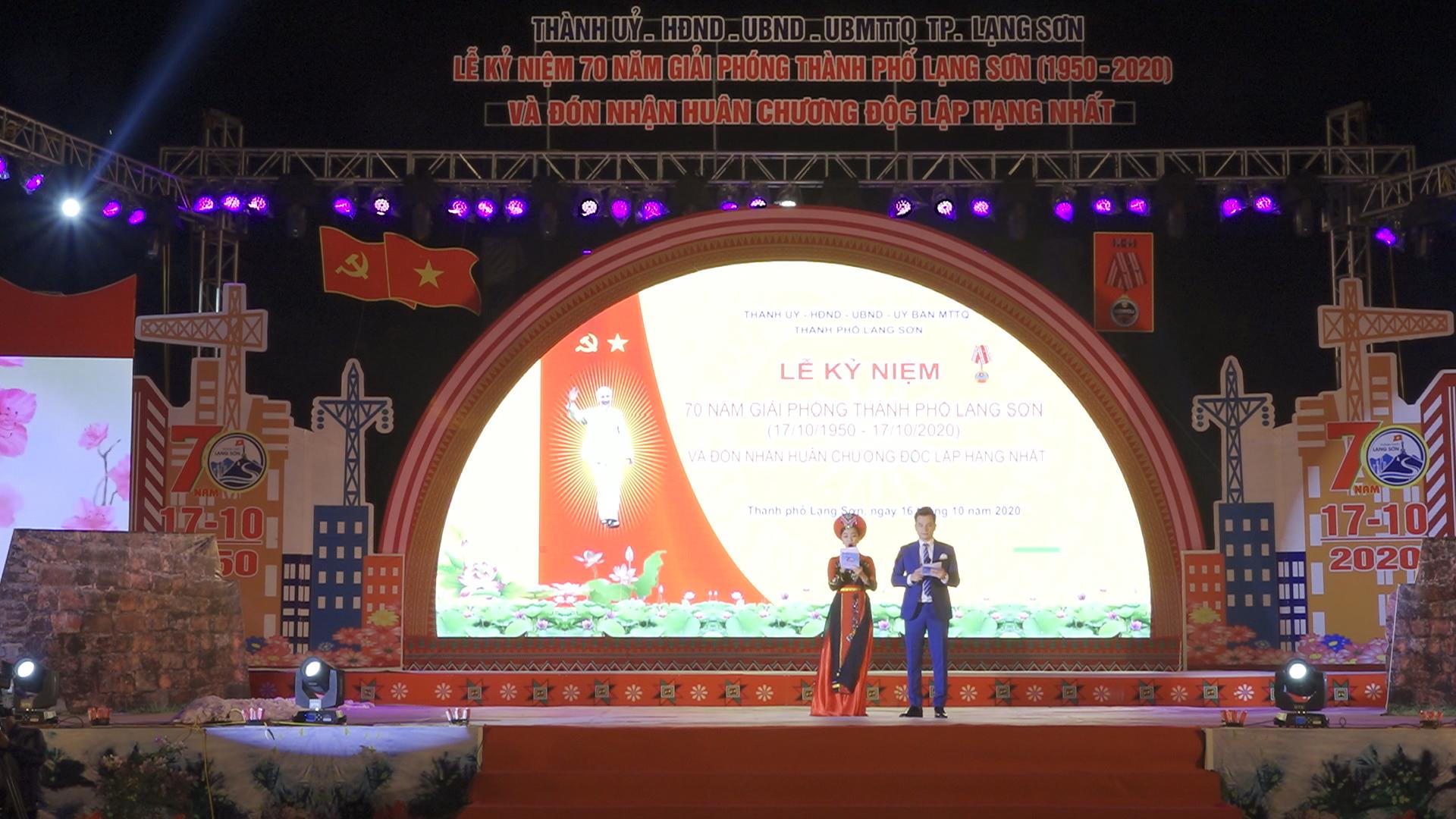 Thành phố Lạng Sơn đón nhận Huân chương Độc lập hạng Nhất trong lễ kỷ niệm 70 năm ngày giải phóng