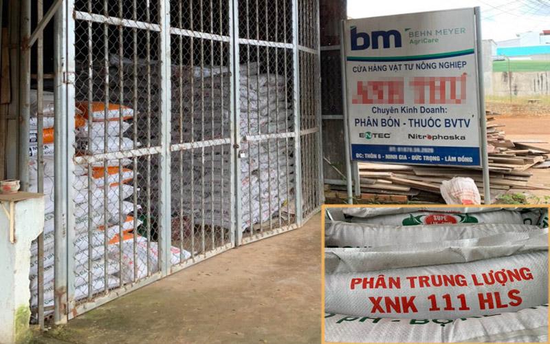 Bắt giữ 40 tấn phân bón không được công nhận lưu hành tại Việt Nam