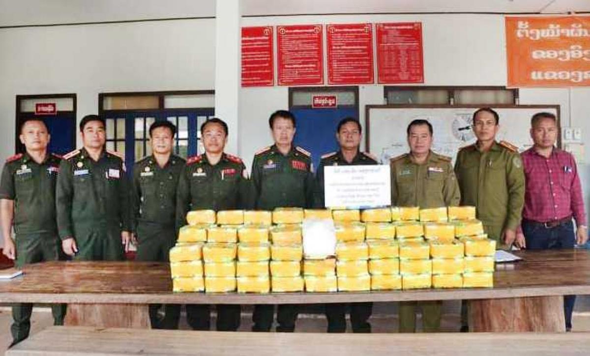 Lào thu giữ 120 kg ma túy đá tại vùng biên giới với Thái Lan