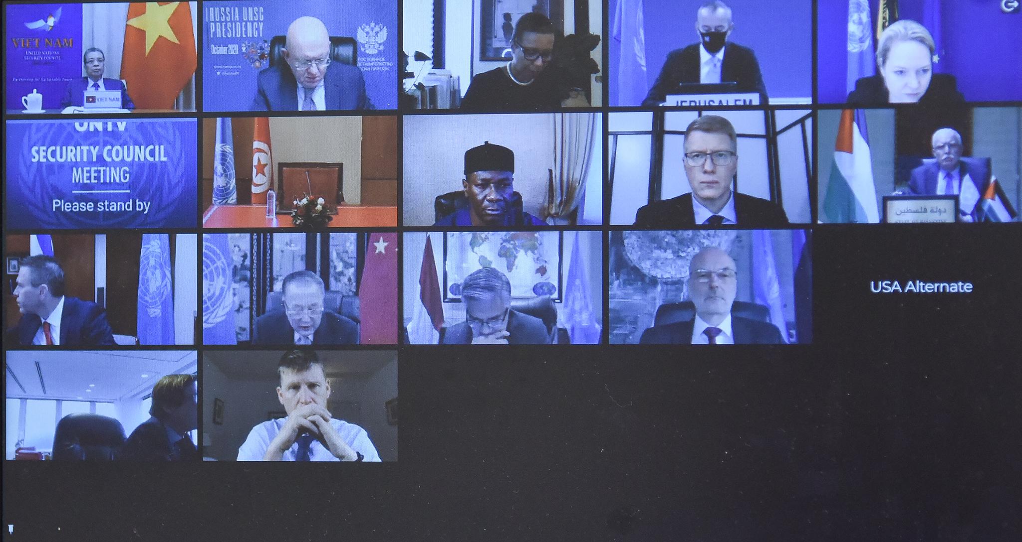 Hội đồng Bảo an LHQ thảo luận trực tuyến về tình hình Trung Đông