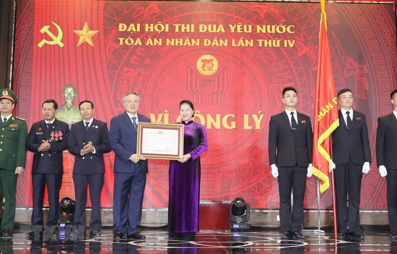 Chủ tịch Quốc hội Nguyễn Thị Kim Ngân dự Đại hội Thi đua yêu nước Tòa án nhân dân