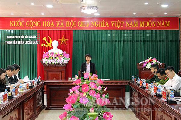 Lãnh đạo UBND tỉnh kiểm tra tại Cửa khẩu Quốc tế Hữu nghị và Cửa khẩu Tân Thanh
