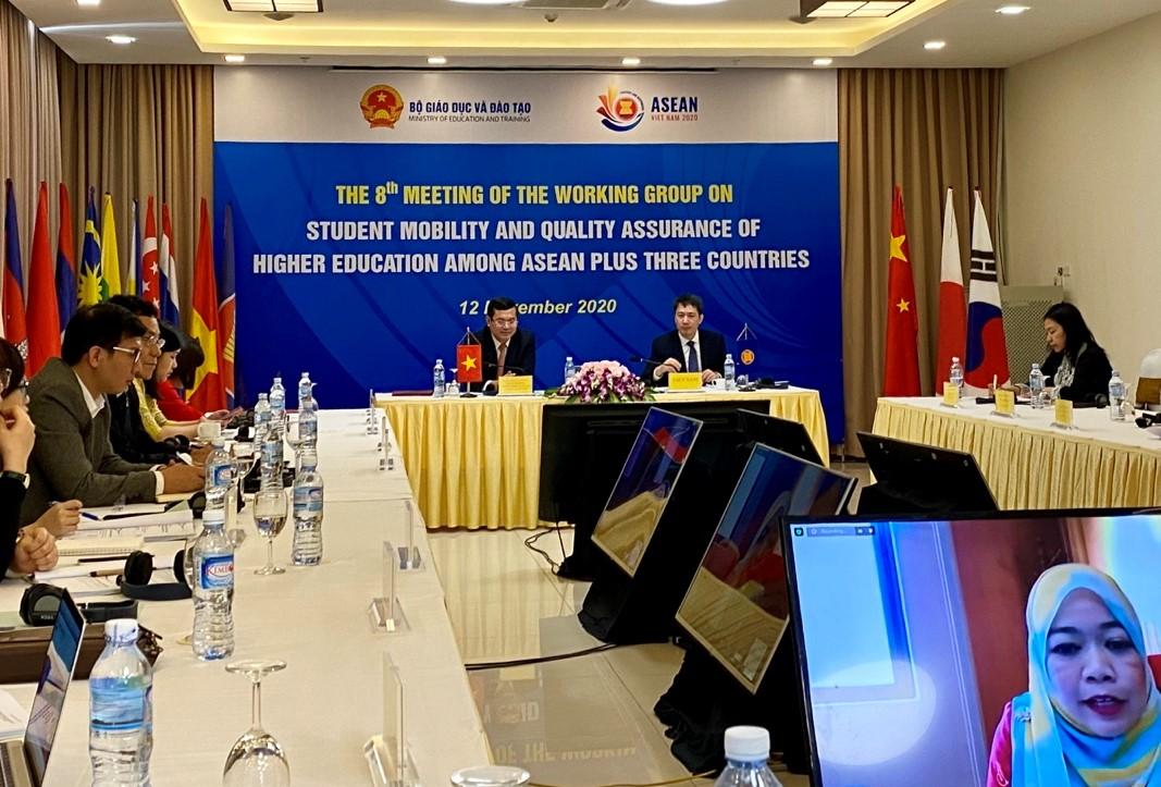 Bộ GD&ĐT trao đổi trực tuyến ASEAN + 3 về giáo dục ĐH