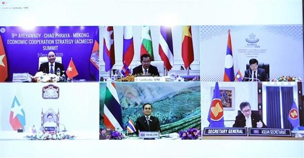 Hội nghị Cấp cao ACMECS: Các nước thông qua 'Tuyên bố Phnom Penh'