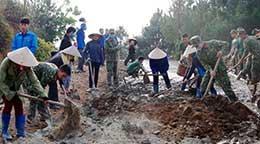 Bộ Chỉ huy Quân sự tỉnh: Chung sức xây dựng nông thôn mới