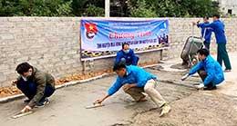 Thanh niên huyện Hữu Lũng: Tích cực tham gia xây dựng nông thôn mới