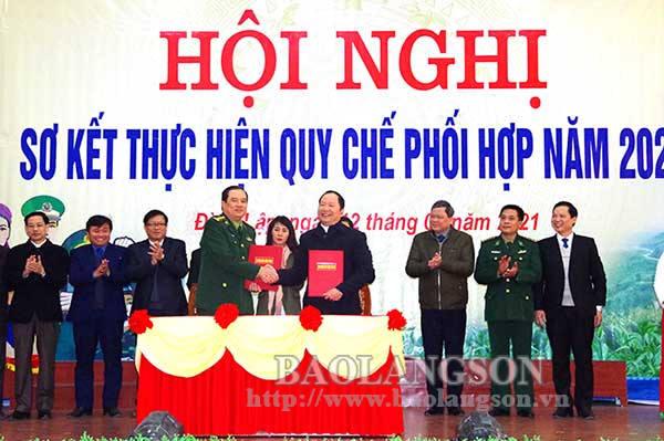 Sơ kết công tác phối hợp giữa Đảng ủy BĐBP tỉnh và 5 huyện biên giới