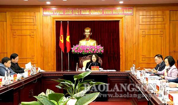 Hội nghị Ban Thường vụ Tỉnh ủy, kỳ thứ tư