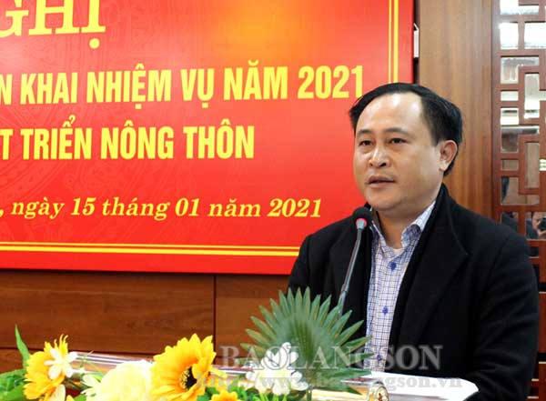Sở Công thương, Sở Nông nghiệp và Phát triển nông thôn triển khai nhiệm vụ năm 2021