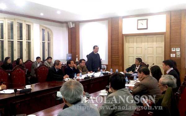 Lãnh đạo UBND tỉnh dự họp thẩm định lập Quy hoạch khu di tích quốc gia đặc biệt Chi Lăng tại Hà Nội