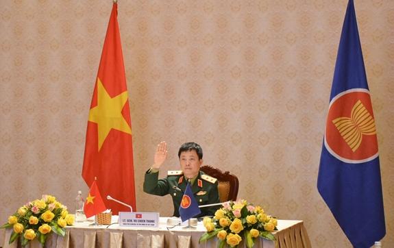 Hội nghị trực tuyến Nhóm làm việc Quan chức Quốc phòng cấp cao ASEAN Mở rộng