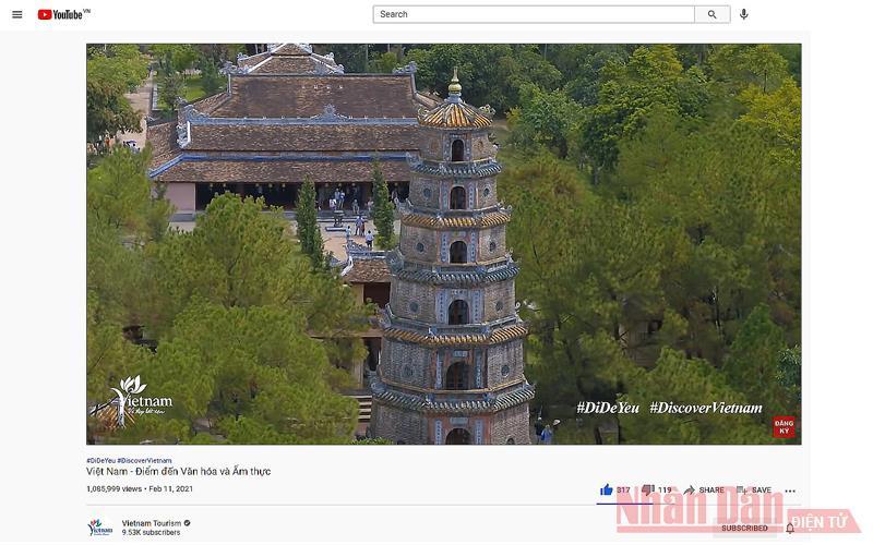 Clip quảng bá du lịch Việt Nam trên YouTube đạt gần 1,1 triệu lượt xem