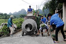 Xây dựng nông thôn mới ở Chi Lăng: Phát huy sức trẻ của đoàn viên, thanh niên